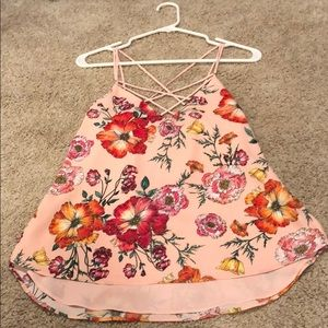 Express Floral Tank new with tags Small